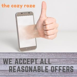 we accept all reasonable offers